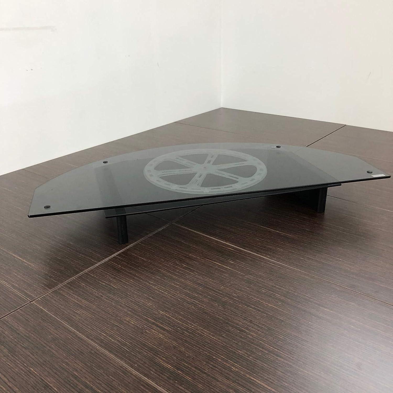 Tecnidea Supporto TV Girevole con vano decoder VTG80 Piano Superiore in Vetro temperato Nero fum/è Dimensioni Lato Frontale cm 80X38