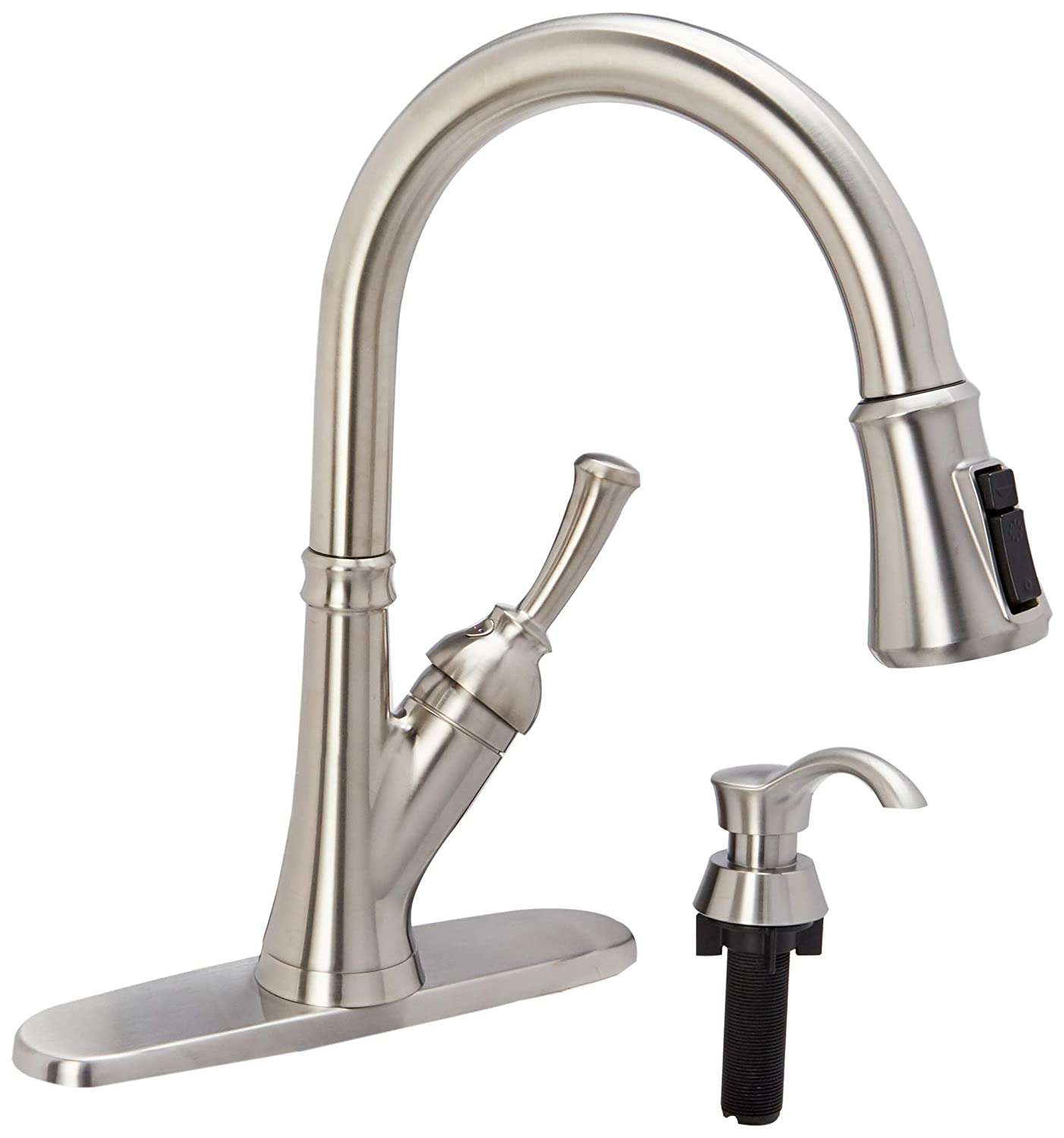 Delta Savile Stainless 1-handle Deck Mount Pull-down ShieldSpray Kitchen Faucet