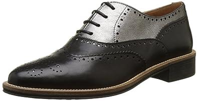 Newton Boots, Derbys Femme, Noir (Black), 36 EUSchmoove