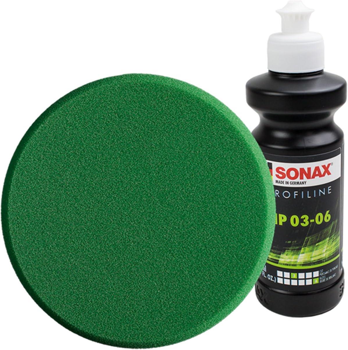 Sonax Polierschwamm Politur GrÜn Profiline Nanopolish Politur Wachs Pflegeset Auto