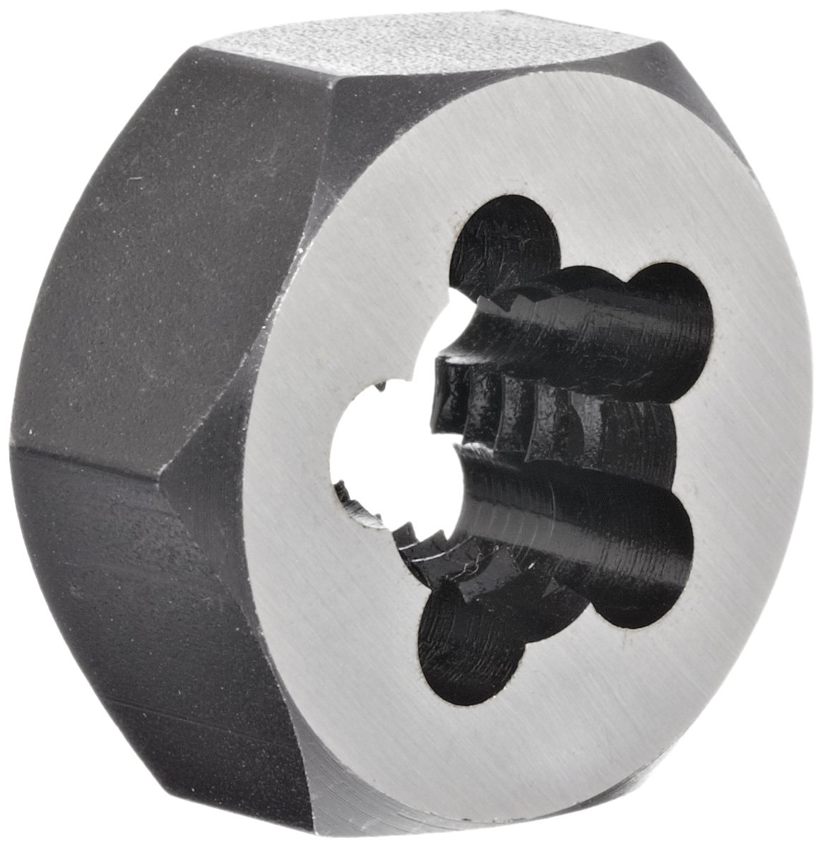 Union Butterfield 2325M Carbon Steel Hexagon Threading Die, Uncoated (Bright) Finish, M12-1.75 Thread Size