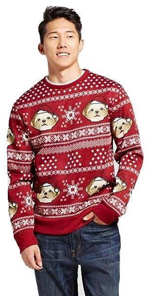 target mens santa dog head holiday christmas sweater cardinal red 2x - Target Christmas Sweater