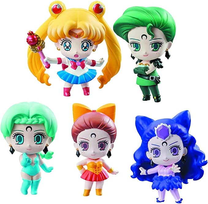 Sailor Moon Petit Chara Pretty Soldier Pack de 5 Figuras Ayakashi vs. Sailor Moon 6 cm: Amazon.es: Juguetes y juegos