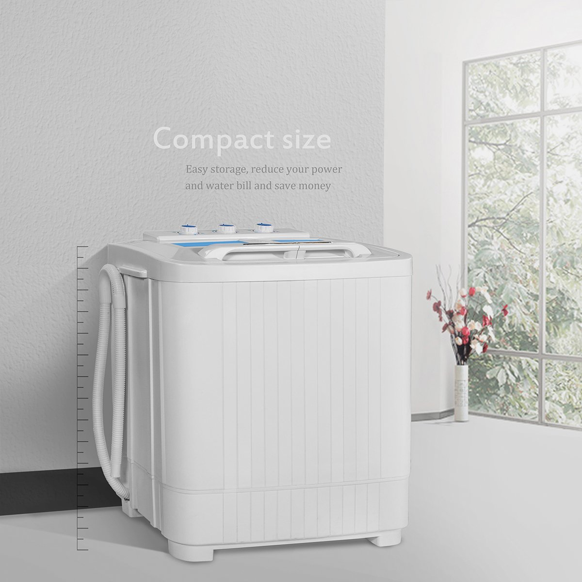 Portable Compact Washer And Spin Dry Cycle With Built In Hoover Dryer Wiring Diagram Pump 33l 16l Appliances