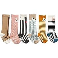 JT-Amigo Pack de 6 Pares Calcetines Largos para Bebé Niños Niñas, 0-2 años