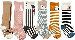 JT-Amigo Pack de 6 Pares Calcetines Largos para Bebé Niños Niñas, 0-2 años: Amazon.es: Bebé