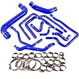 Silicone Radiator Coolant Hose Kit Clamps For Subaru Impreza WRX/STi GDA/GDB EJ207 2002 2003 2004 2005 2006 2007 Blue