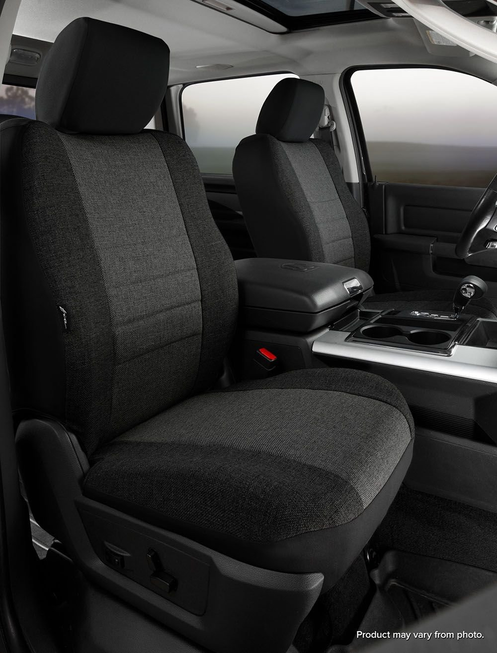 Black Fia SP88-29 BLACK Custom Fit Front Seat Cover Bucket Seats Poly-Cotton,