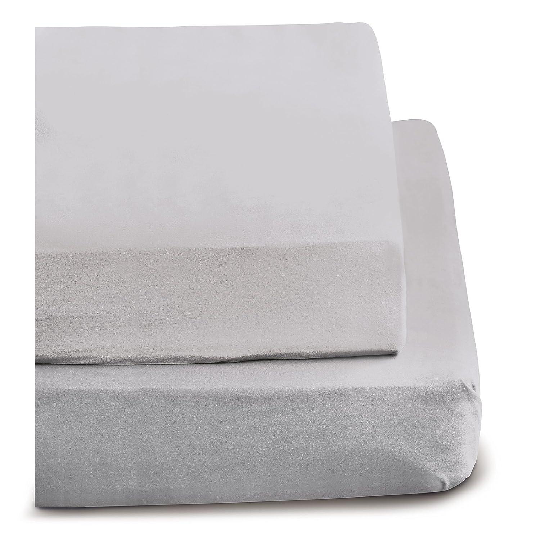 Irisette Feinbiber Haustuch Bettlaken Merkur (nebel, 150x250 cm ...