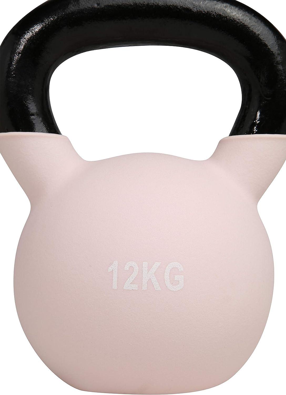 One Size ENDURANCE ATHLECIA Unisex Kettlebell Centree mit feiner Oberfl/äche rosa