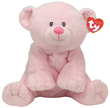 Amazon.com  Ty Baby Woods Pink Bear Pluffies  Toys   Games 9b38707d238