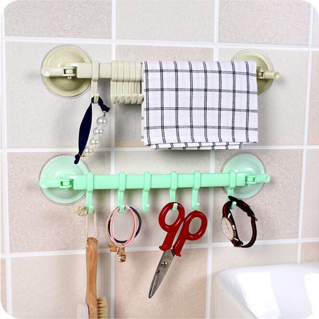 Badezimmer Badezimmer-K/üchenhandtuchhaken f/ür die Wand /& Deckenh/änger Y56 Saugnapf-Wandregal K/üche Badezimmer-Aufh/ängehaken 6 Haken Saugnapf-Regal wasserdicht und /ölbest/ändig Handtuchhalter