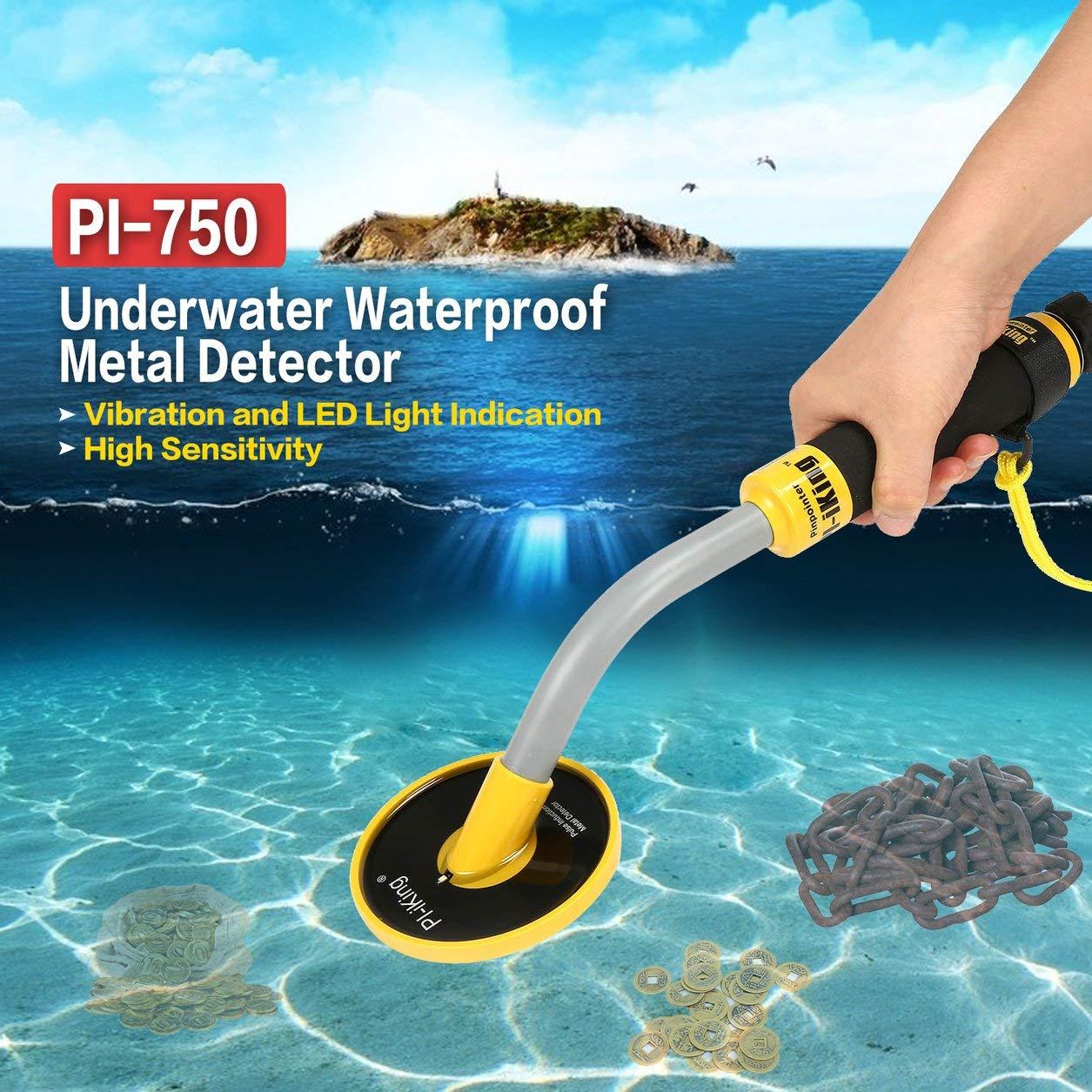 PI-750 Submarino de mano detector de metales impermeable de la moneda de oro del tesoro búsqueda: Amazon.es: Hogar