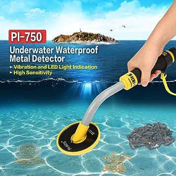 PI-750 Submarino de mano detector de metales impermeable de la moneda de oro del