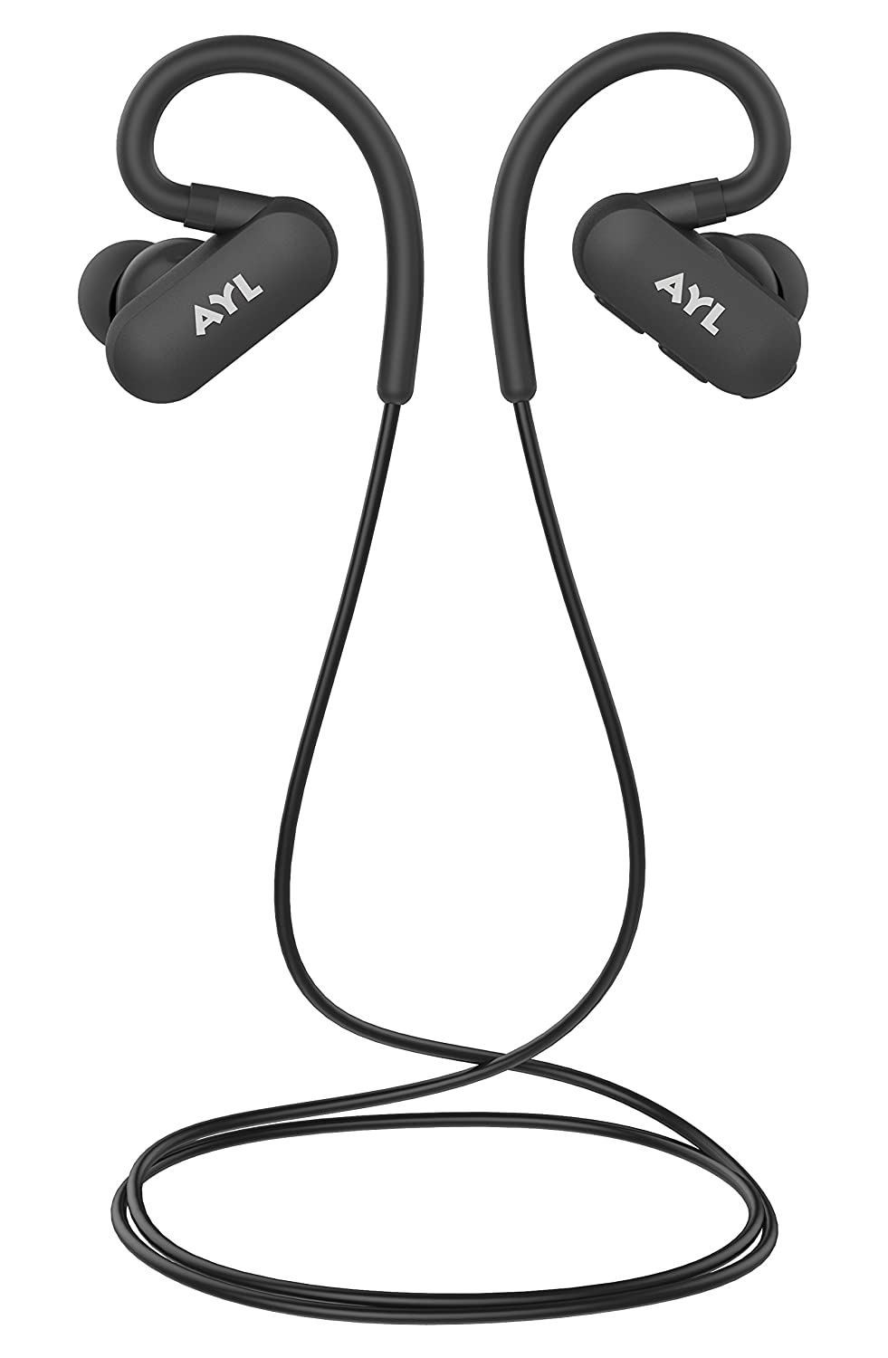 AYL Bluetooth Headphones Sweatproof Running - Wireless Earbuds Sport, Richer Bass Stereo in-Ear Earphones w/Mic, Noise Cancelling Headsets with Wireless Headphones Buds (Black) A89