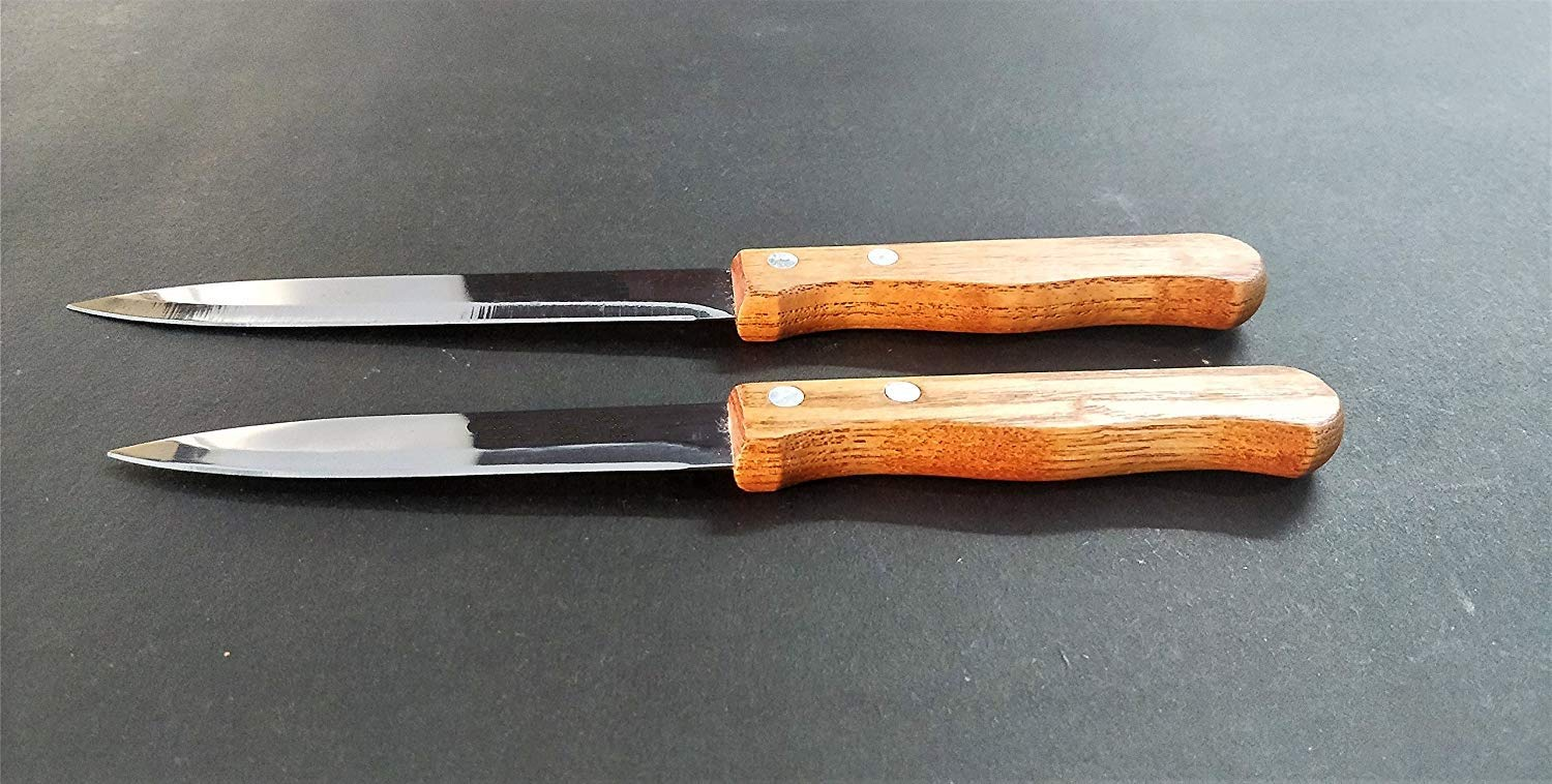 KTC Plus Stainless Steel Multipurpose Knife with Wooden Handle for Kitchen  and Office -Set of 2