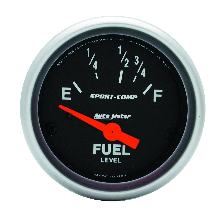 Auto Meter 3318 Sport-Comp 2-1/16' Short Sweep Electric Fuel Level Gauge