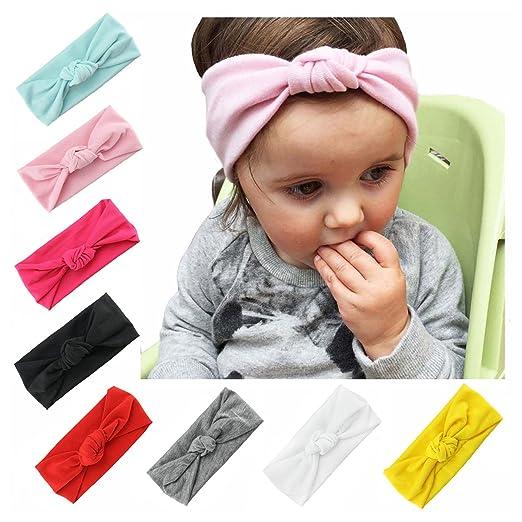 ALoveSoul Baby Knotted Headbands - Newborn Elastic Stretch Head Wrap Infant  Turban Toddler Girl Hair Hoops c72ba7a14f8