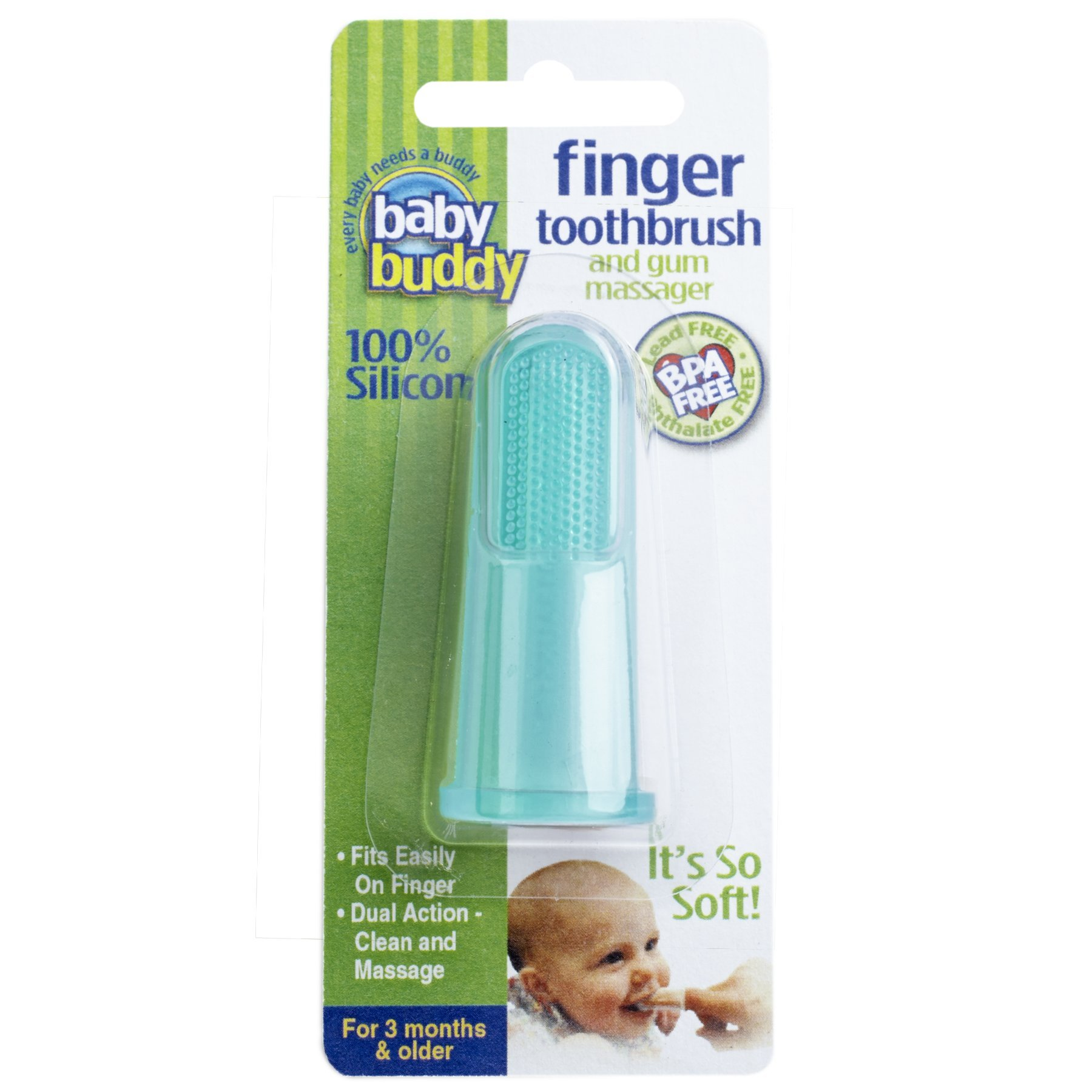 Amazon.com : Baby Buddy Finger Toothbrush Stage 2 for Babies ...
