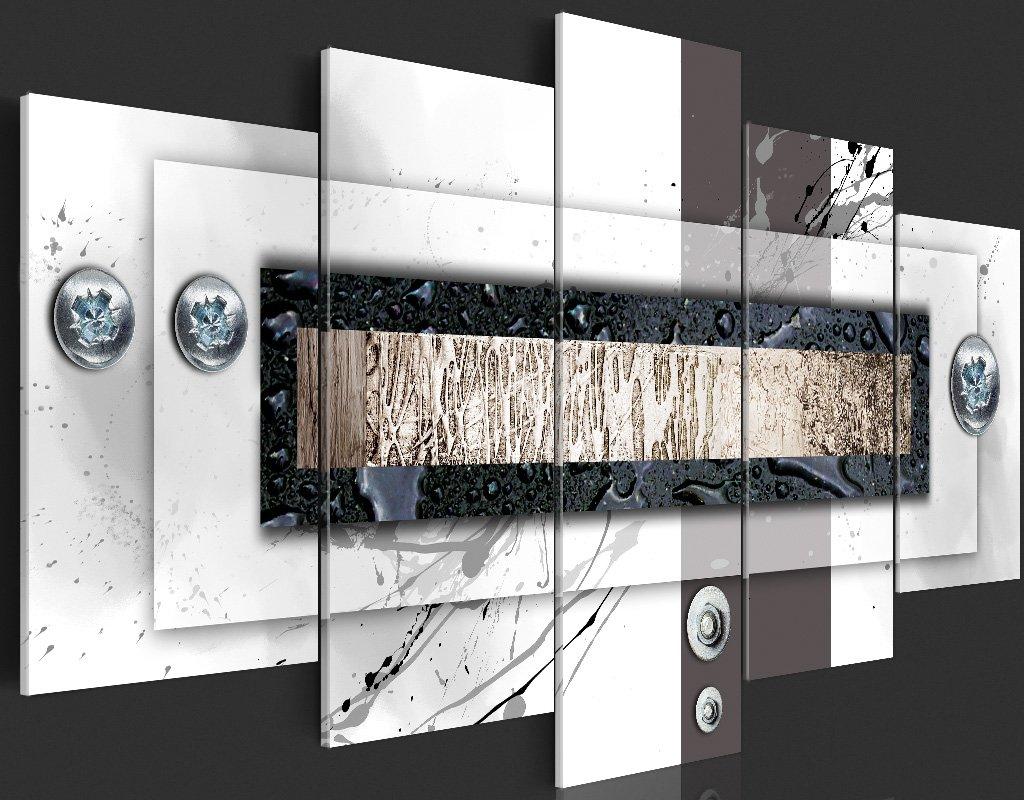 Murando Akustikbild Abstrakt 225x112 cm Bilder Hochleistungsschallabsorber Hochleistungsschallabsorber Bilder Schallschutz Vlies Leinwand Akustikdämmung 5 TLG Wandbild Raumakustik Schalldämmung 020101-157 d29653