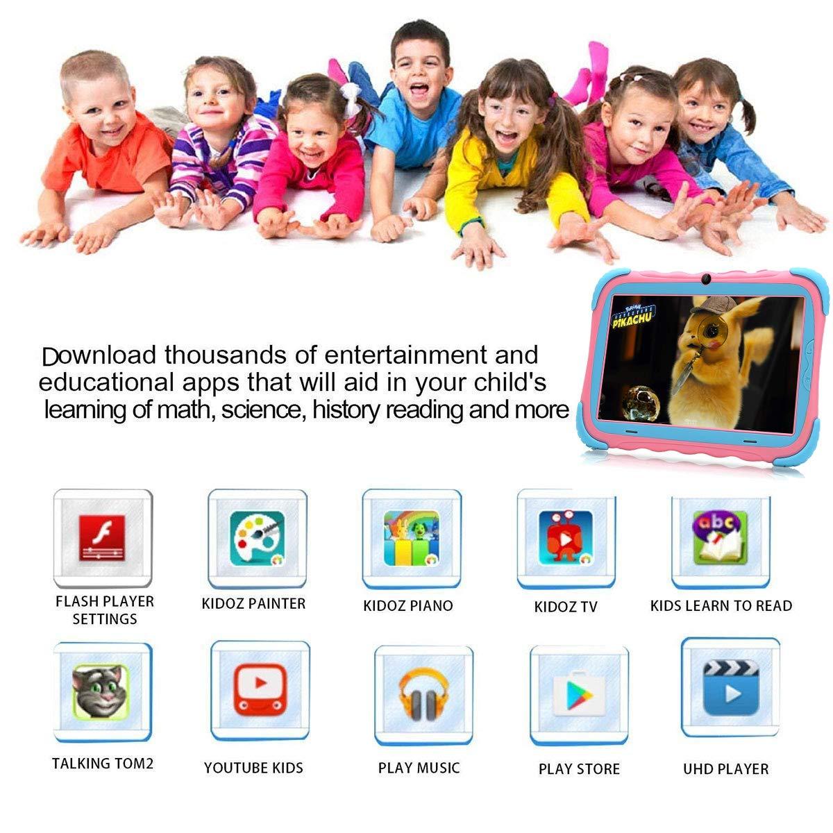 Tablet para Niños 7 Pulgadas Android 7.1 Quad Core 16GB Google Play Store Pantalla IPS HD WiFi Bluetooth y Doble Cámara Certificación Babypad GMS ...