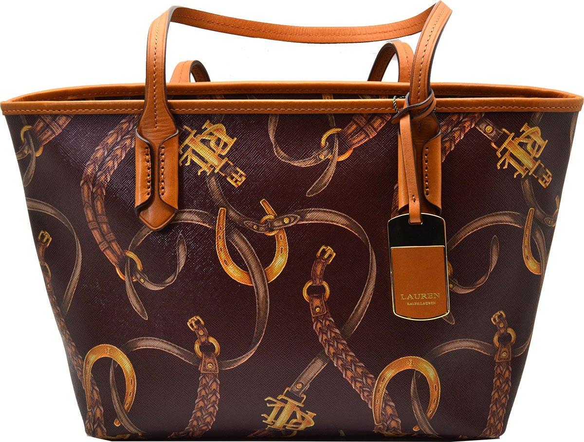 9a7e599654ff Galleon - Lauren Ralph Lauren Caldwell Beltin Shopper Tote Purse Shoulder  Bag (Garnet Belt)