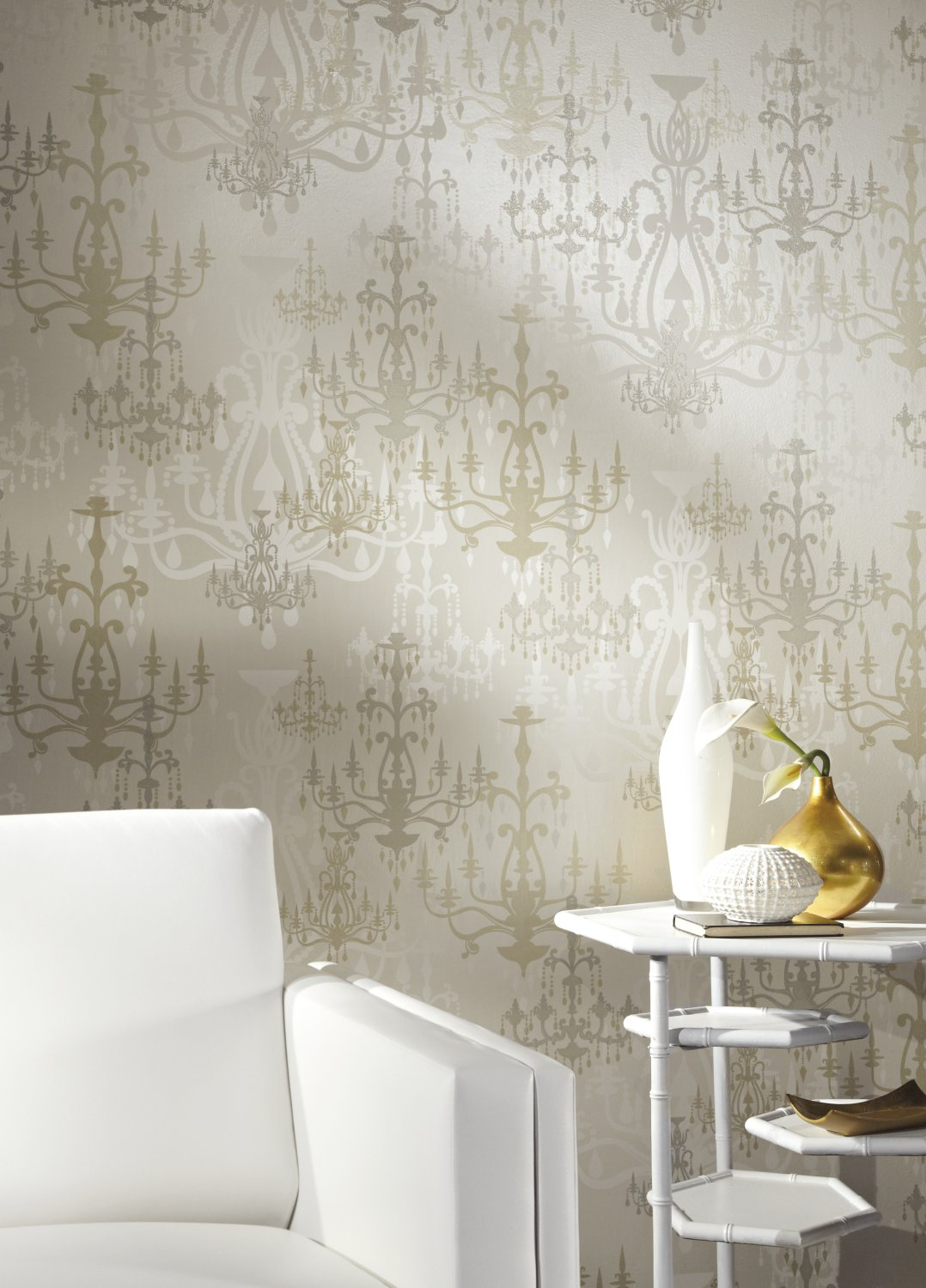 Beige York Wallcoverings WH2627SMP Wallpaper-Her Luminary Wallpaper Memo Sample Cream Pearl Glittering Hot Pink 8-Inch x 10-Inch