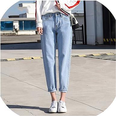 N A Mom Jeans Pantalones Vaqueros Para Mujer Talla Grande Cintura Alta Talla Grande Pantalones Vaqueros Para Novio Para Mujer Pantalones Harem High Street De Algodon Amazon Es Ropa Y Accesorios