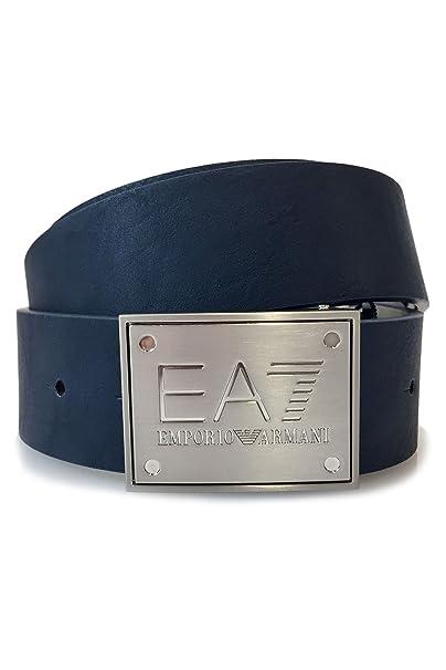 vendita calda online db845 ee3ad Emporio Armani EA7 cintura uomo accorciabile reversibile ...
