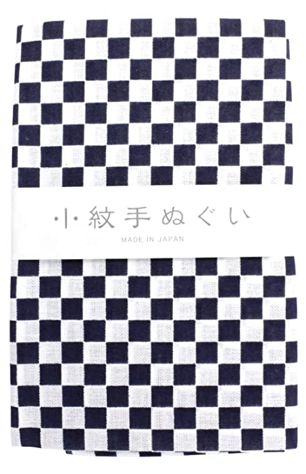 """Toalla tradicional japonesa """"Tenugui patrón pequeño cuadros"""