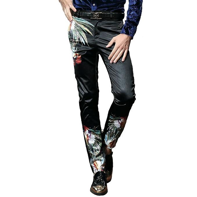 Amazon.com: fanzhuan moda pantalones para hombre Slim Fit ...