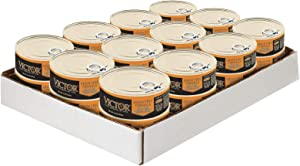 Victor Shredded Chicken Dinner In Gravy Cat Food -Canned, 24/5.5 Oz. Cans