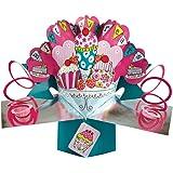 Second Nature POP062 - Biglietto di auguri in 3D per compleanno, rosa
