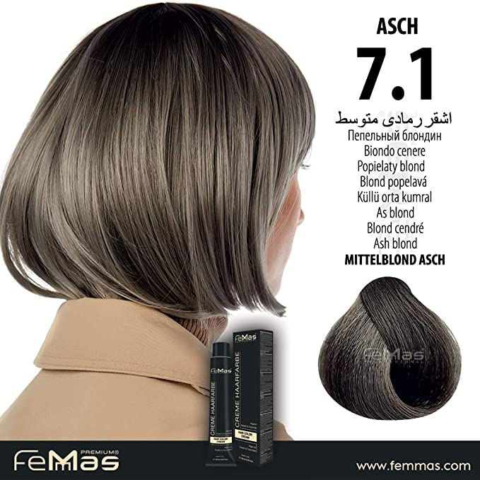 Femmas Hair Color Cream - Tinte para el cabello (100 ml, con ...