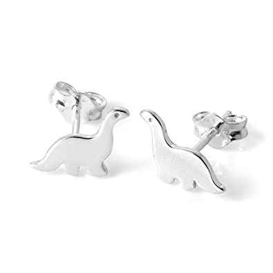 e9517bbea Simple Sterling Silver Dinosaur Stud Earrings: Amazon.co.uk: Jewellery