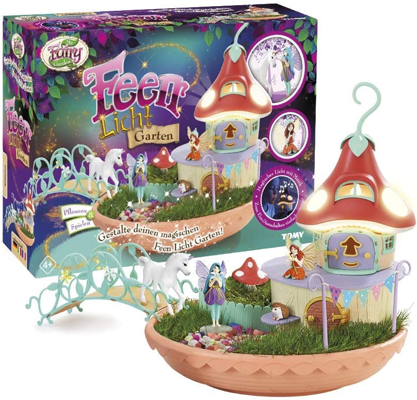 My Fairy Garden Feen Licht Garten Tomy E72853DE Fairy Light Garden, Single, Colourful