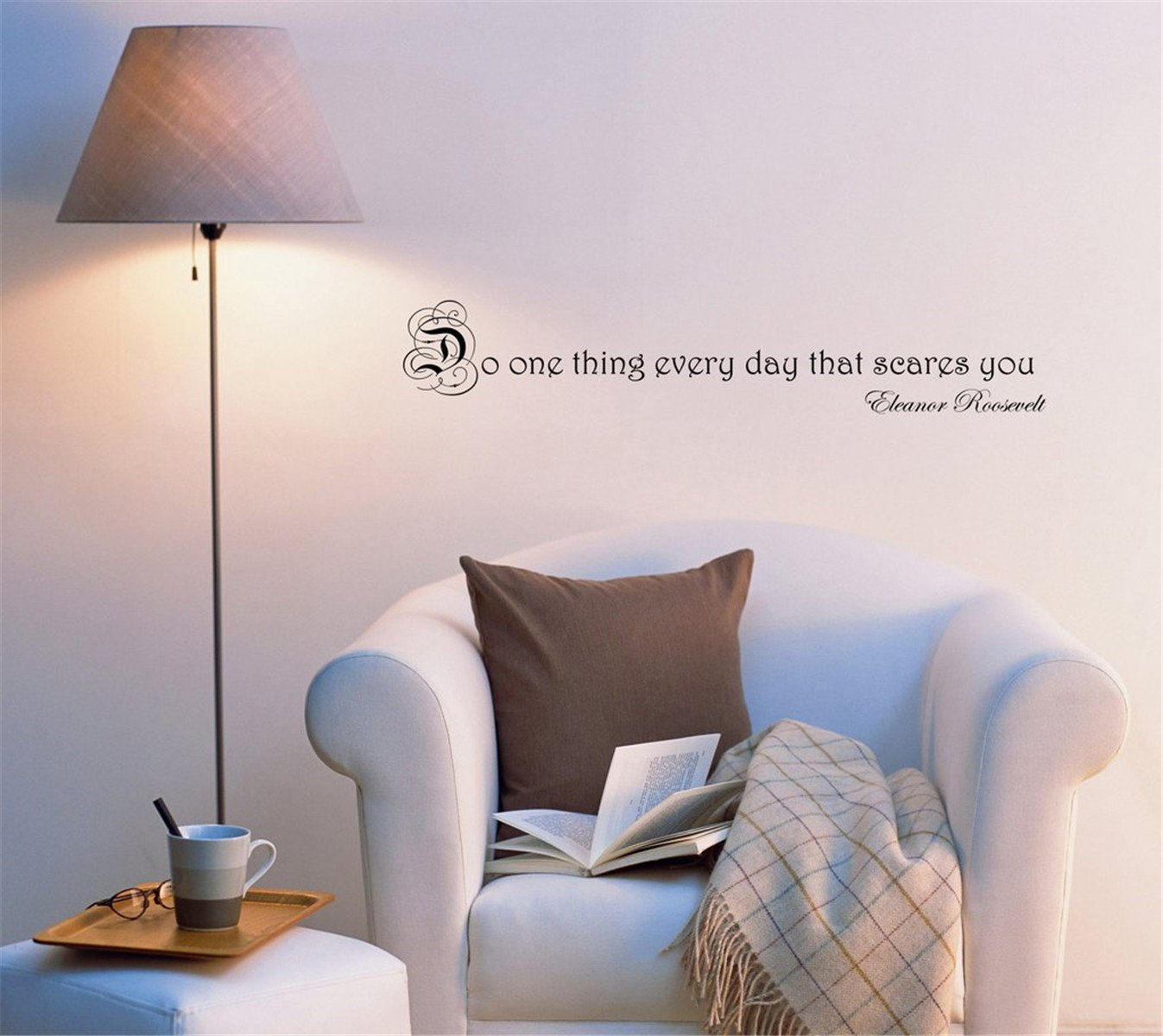 BorisMotley Wall Decal Do One Thing Every Day That Scares You Vinyl Removable Mural Art Decoration Stickers for Home Bedroom Nursery Living Room Kitchen