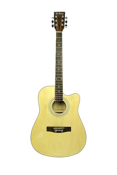 De rosa ga300ce acabado Natural acústica guitarra eléctrica con accesorios