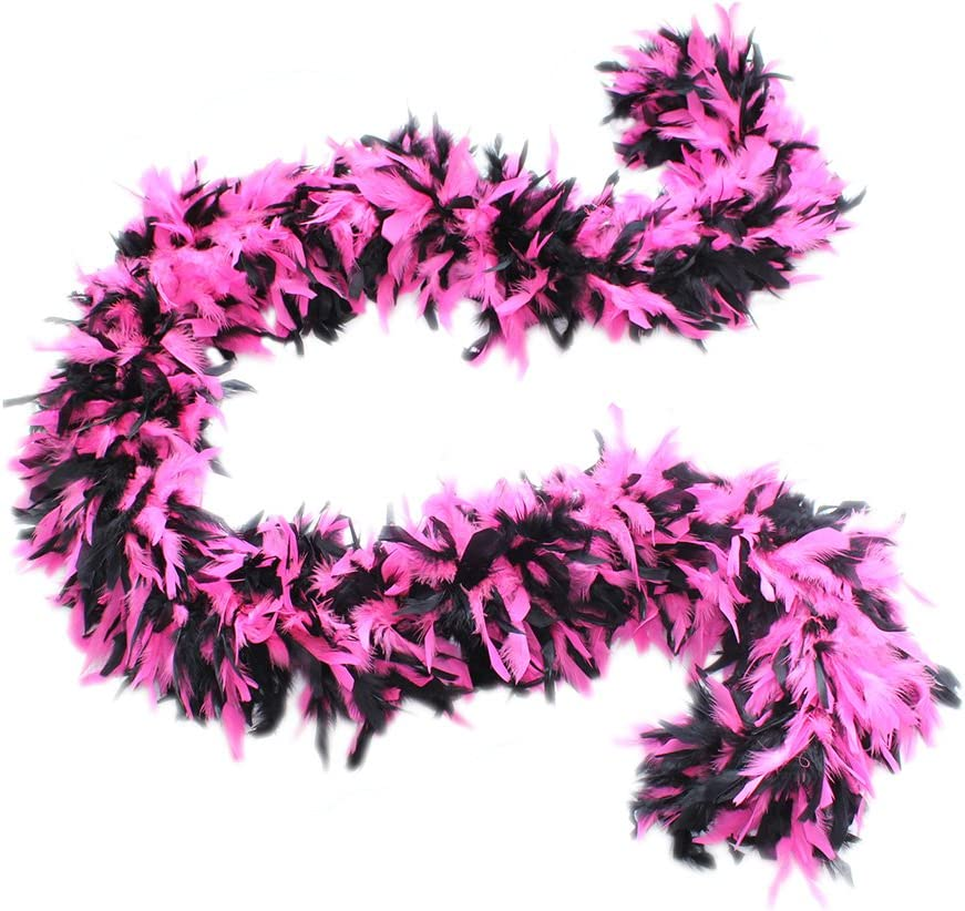 Fuchsia Cynthias Feathers 180g 80 Turkey Chandelle Feather Boas Over 25 Color /& Patterns