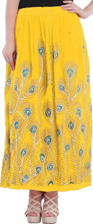 Whitewhale - Falda - Animal Print - para Mujer Amarillo Amarillo ...