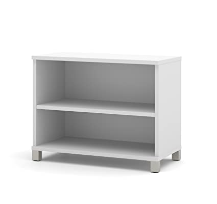 Bestar Pro Linea 2 Shelf Bookcase White