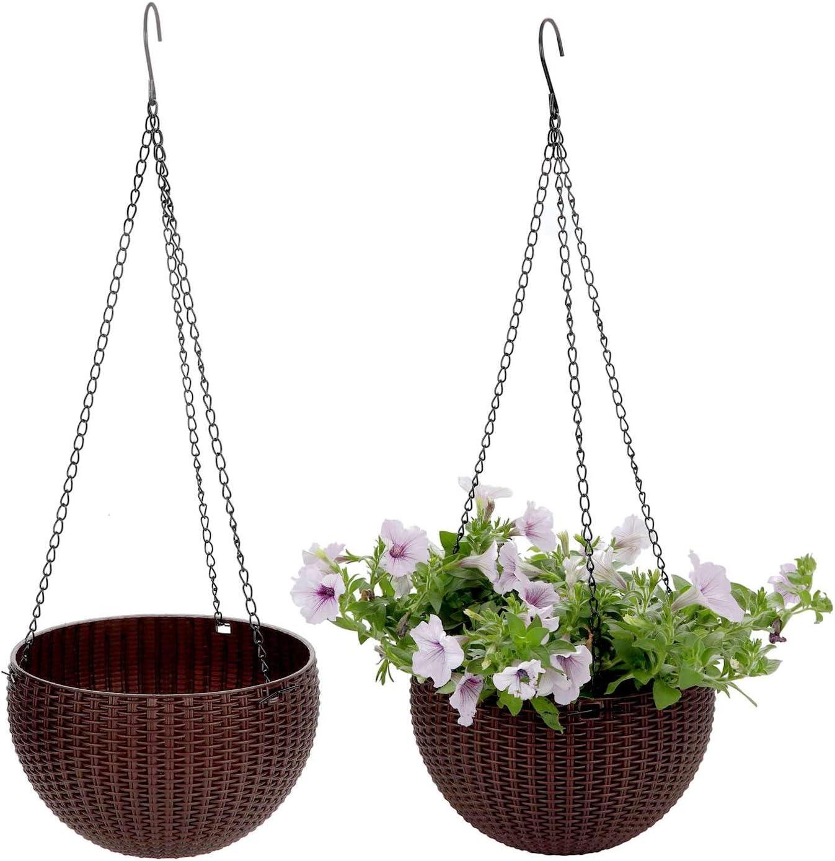 Blumenampel 25 27 Cm  mit Aufhänger ca 6,2 Ltr Volumen Farbe Weiß