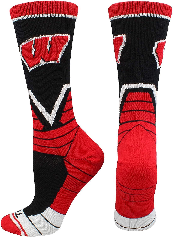 TCK Wisconsin Badgers Socks Victory Crew
