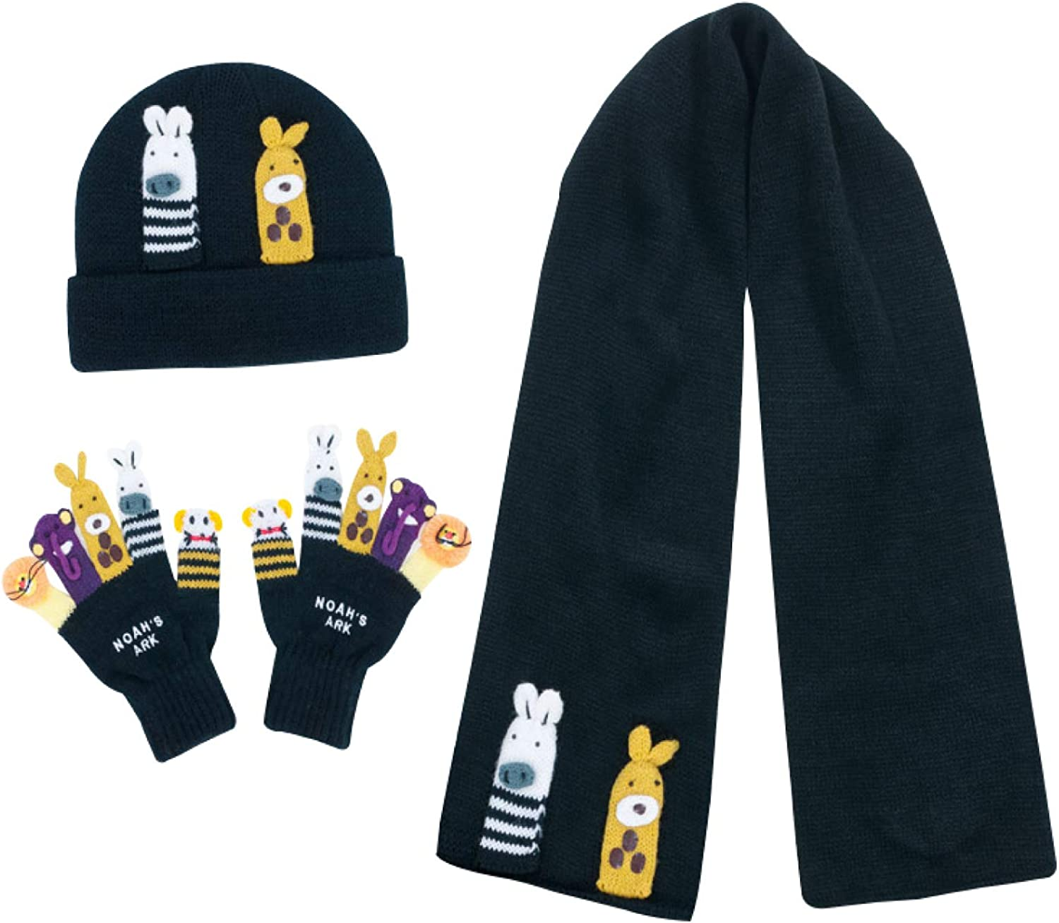 Kidorable Child/'s Knit Hat Scarf and Glove Set Boys and Girls
