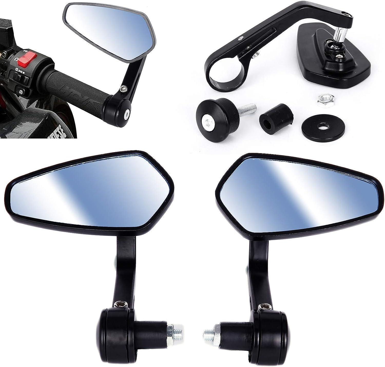 SurePromise Specchietti Moto Universal,Coppia Specchietti Retrovisori,Moto Specchio Posteriore 360 Gradi Mirror di Motocicletta Di Motociclo per Street Bike Sport Bike Scooter Cruiser