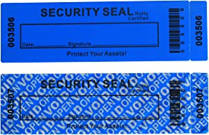 50-Pack Non Residue Tamper Evident Security Warranty