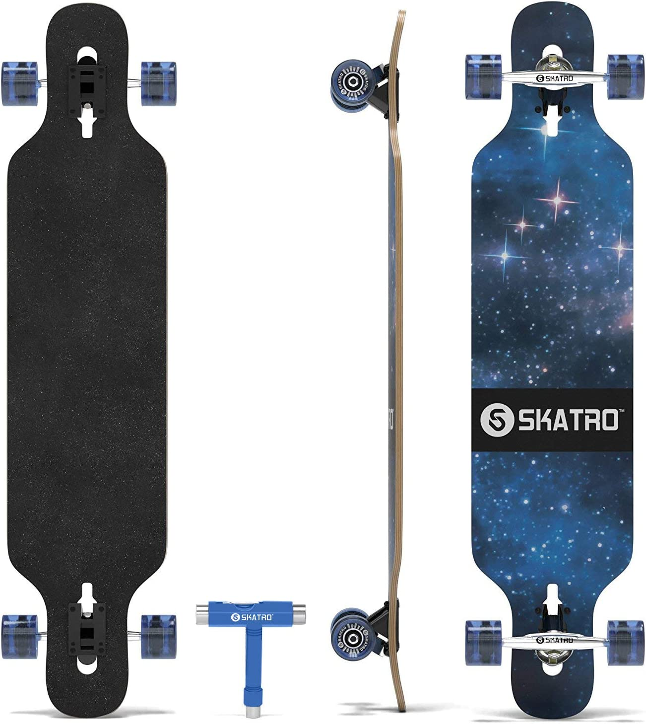 skatro Drop through Longboard skateboard freeride - 2