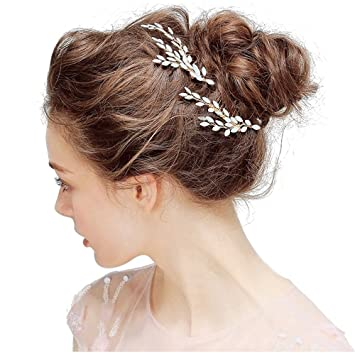 Samidy Bling Glanzend Hochzeit Crystal Haar Pin Haar Clip Haar Kamm