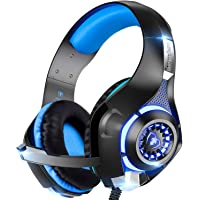 Beexcellent Beexcellent Gaming Headset GM-1 with Microphone for New Xbox 1 PS4 PC Cellphone Laptops Computer - Surround Sound, Noise Reduction Game Earphone-Easy Volume Control with LED Lighting 3.5MM