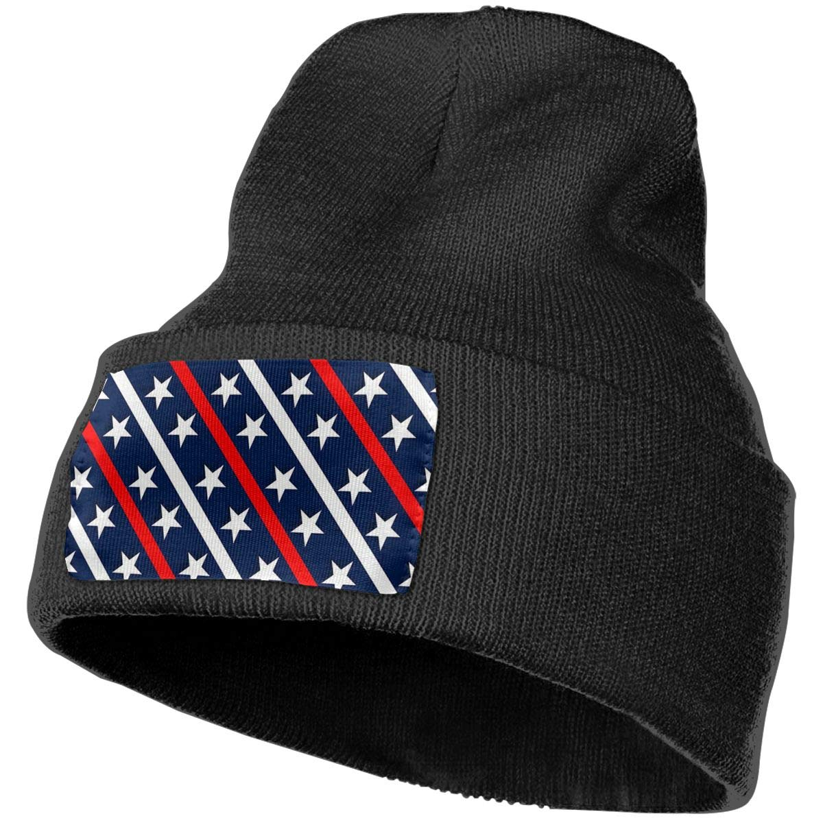 100/% Acrylic Acid Mas Beanie Hat Ruin Stars American Flag Fashion Knitting Hat for Men Women